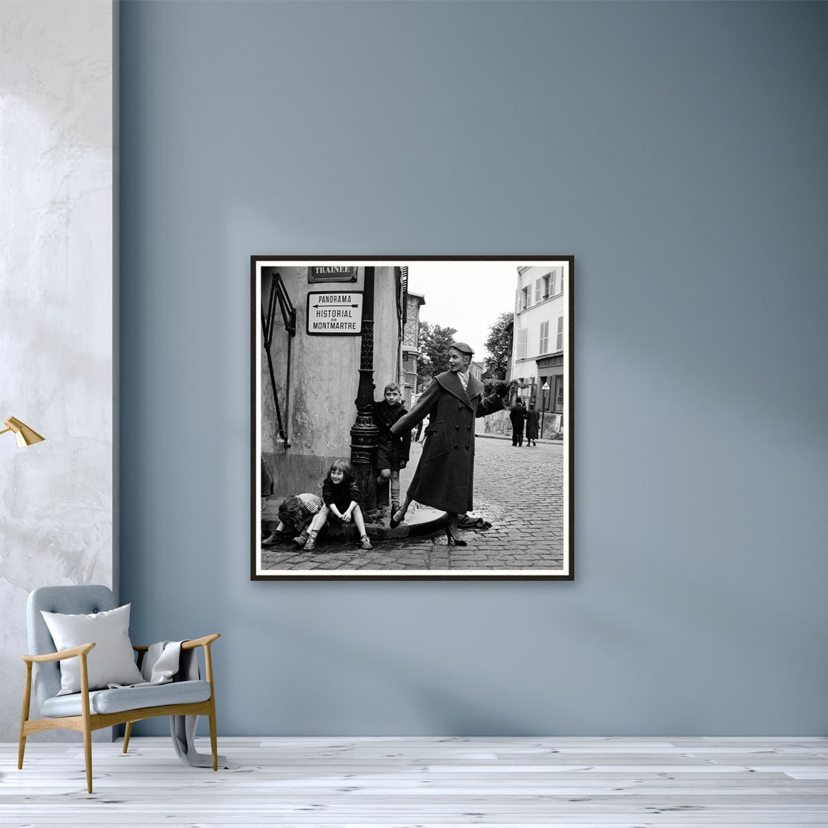 9 Paris P.A.P Montmarte 1950 Kids on Curbstone by Marilyn Stafford