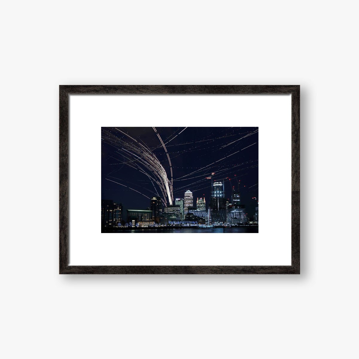 Aircraft Pass Over Canary Wharf by Roger Jackson