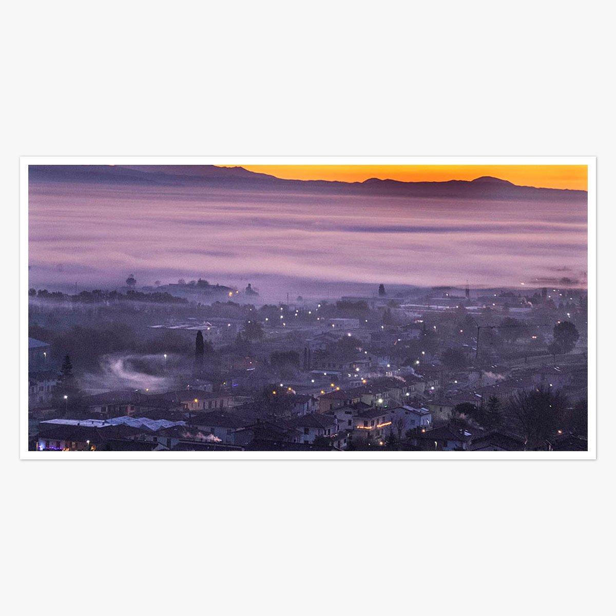 Dawn rises in Anghiari,Tuscany by Roger Taylor