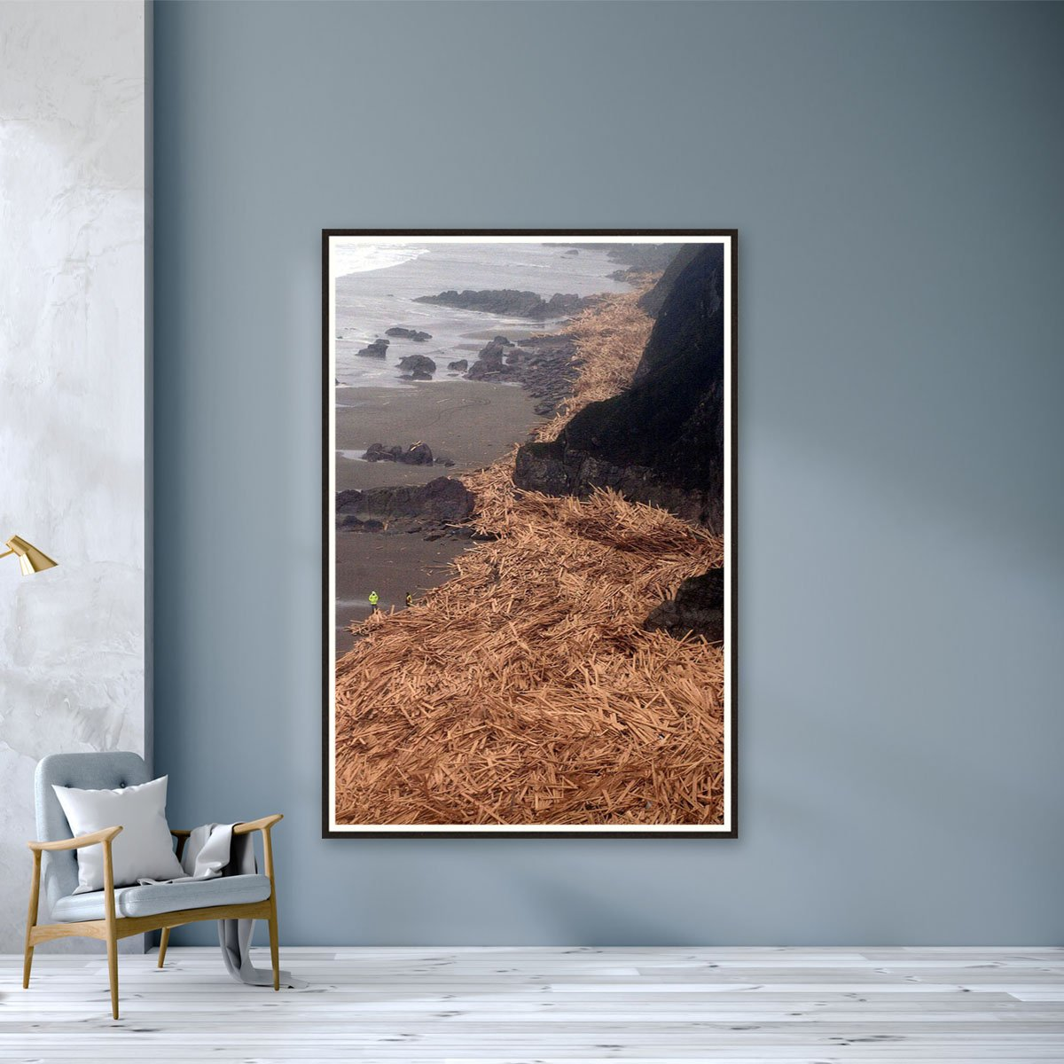 Match Wood On The Beach by Richard Lappas