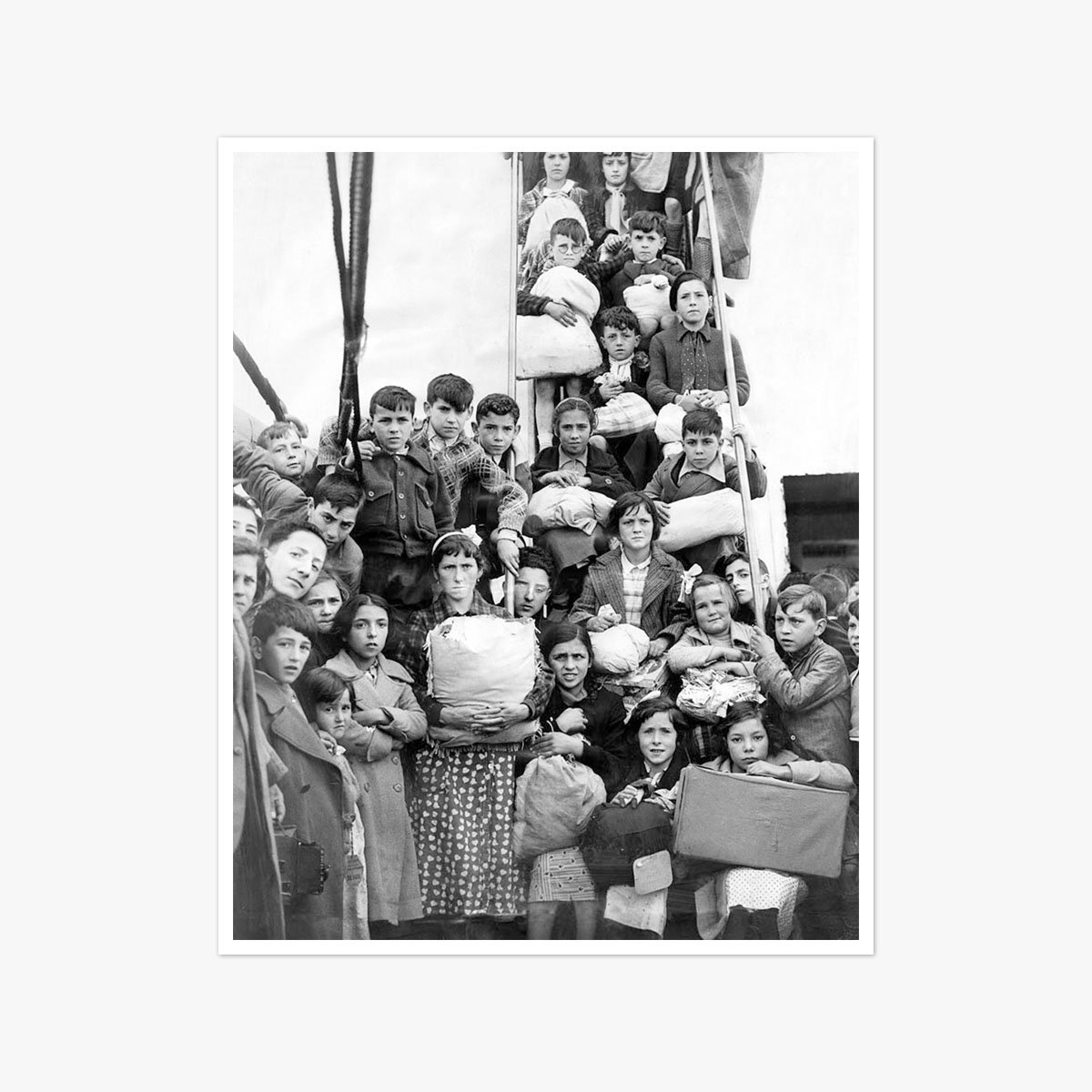 Basque refugees by Frank Rust