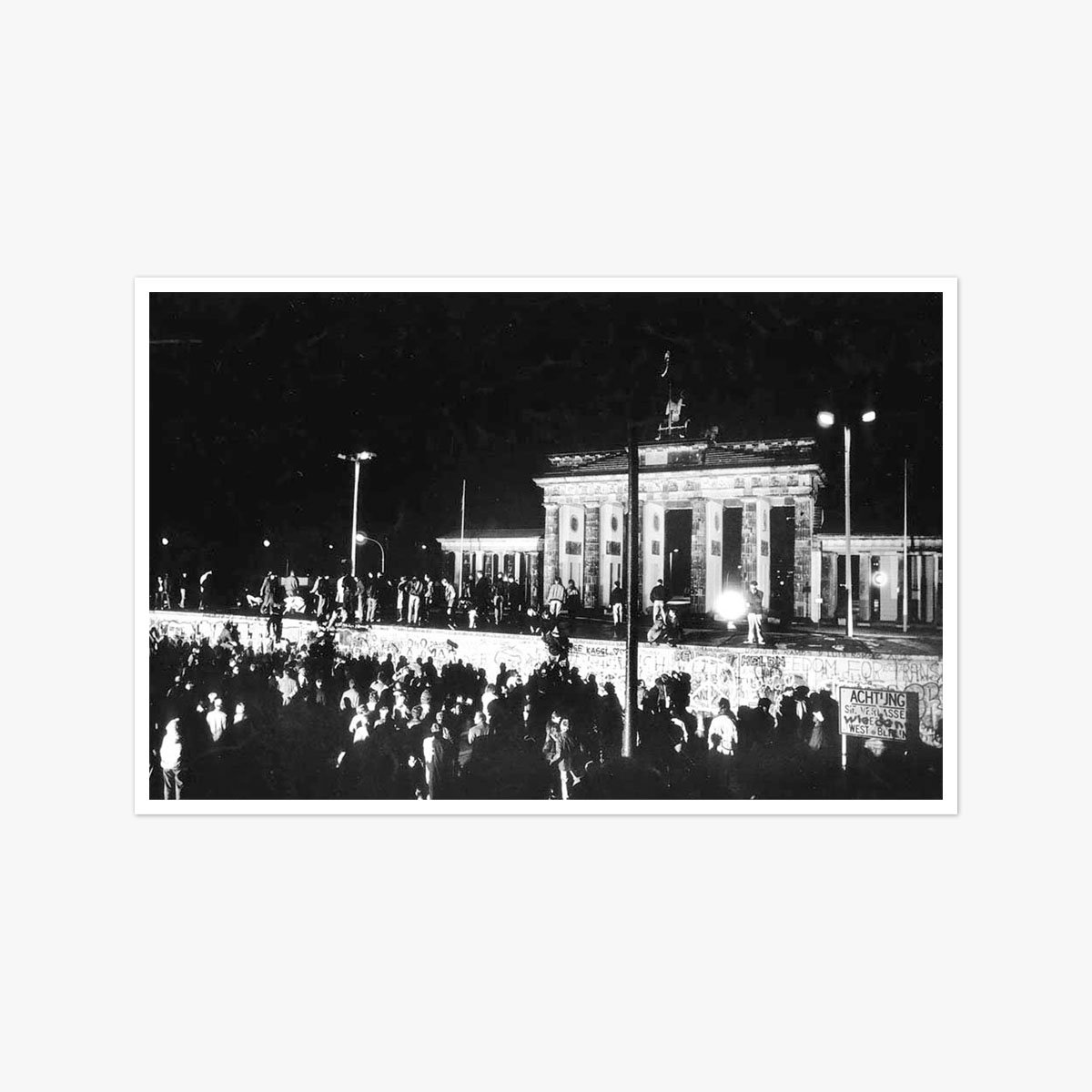 Germany, Berlin Wall Brandenburg Gate by Brian Harris