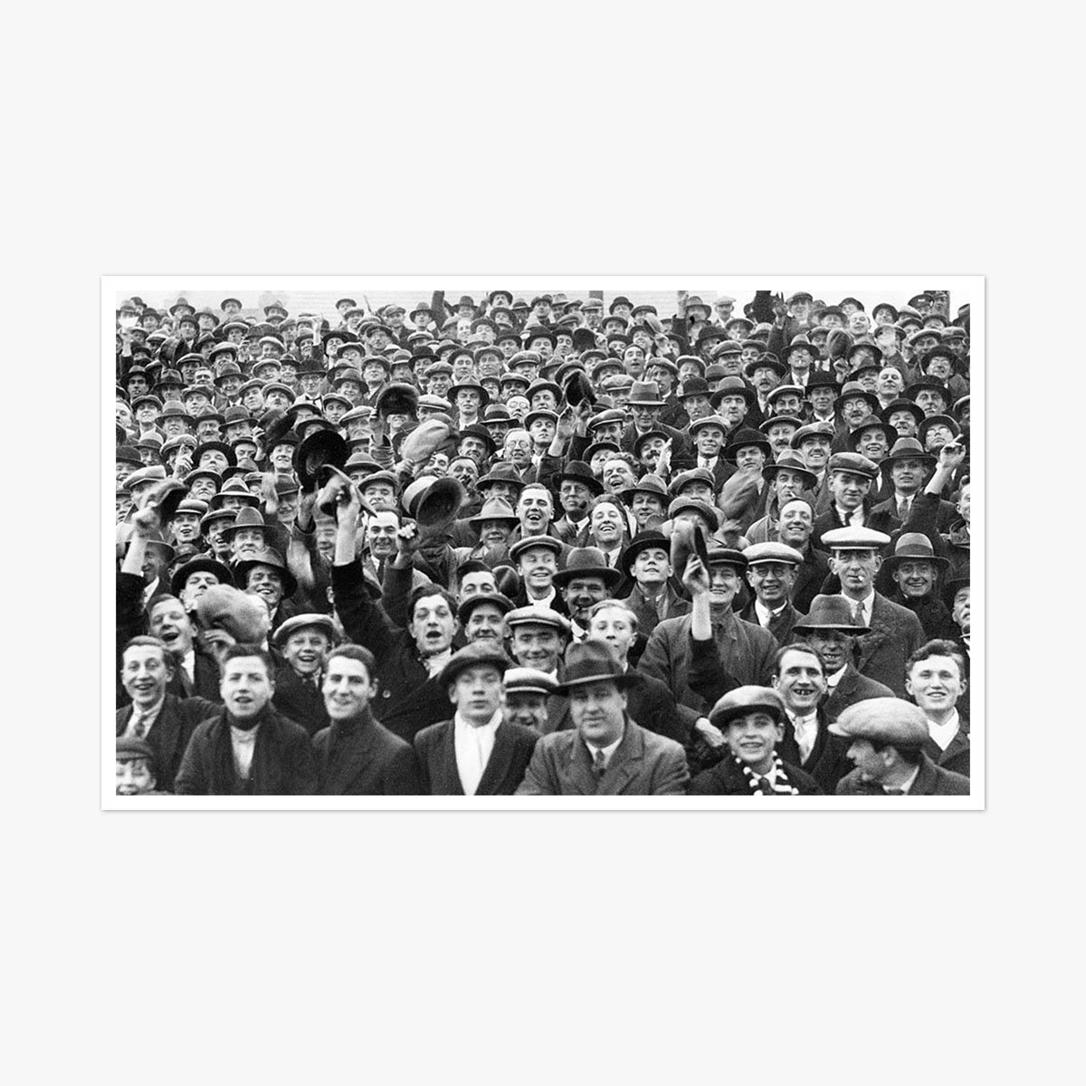 Football Fans 1930 by Frank Rust