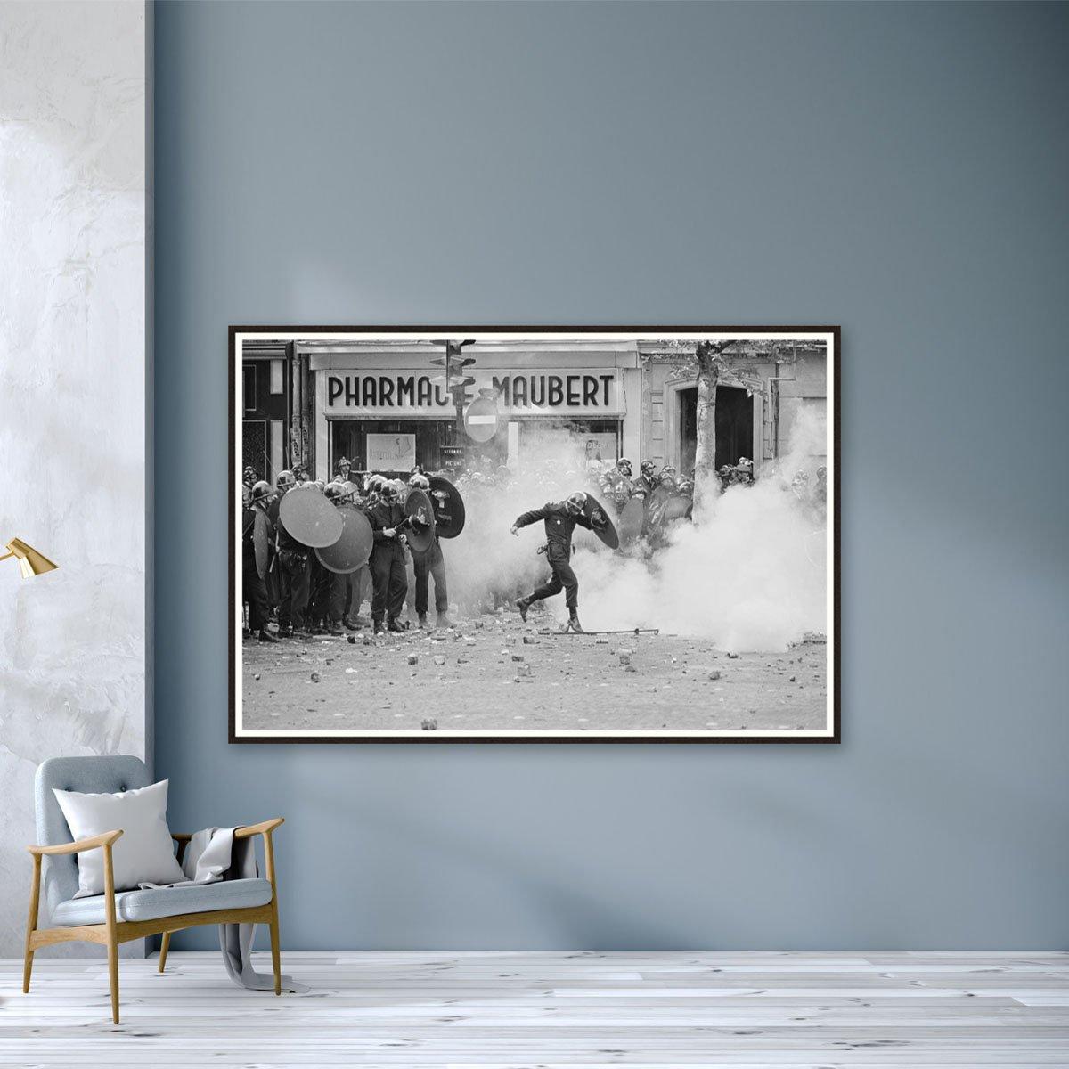 Riots in Paris, 1968 by Reg Lancaster