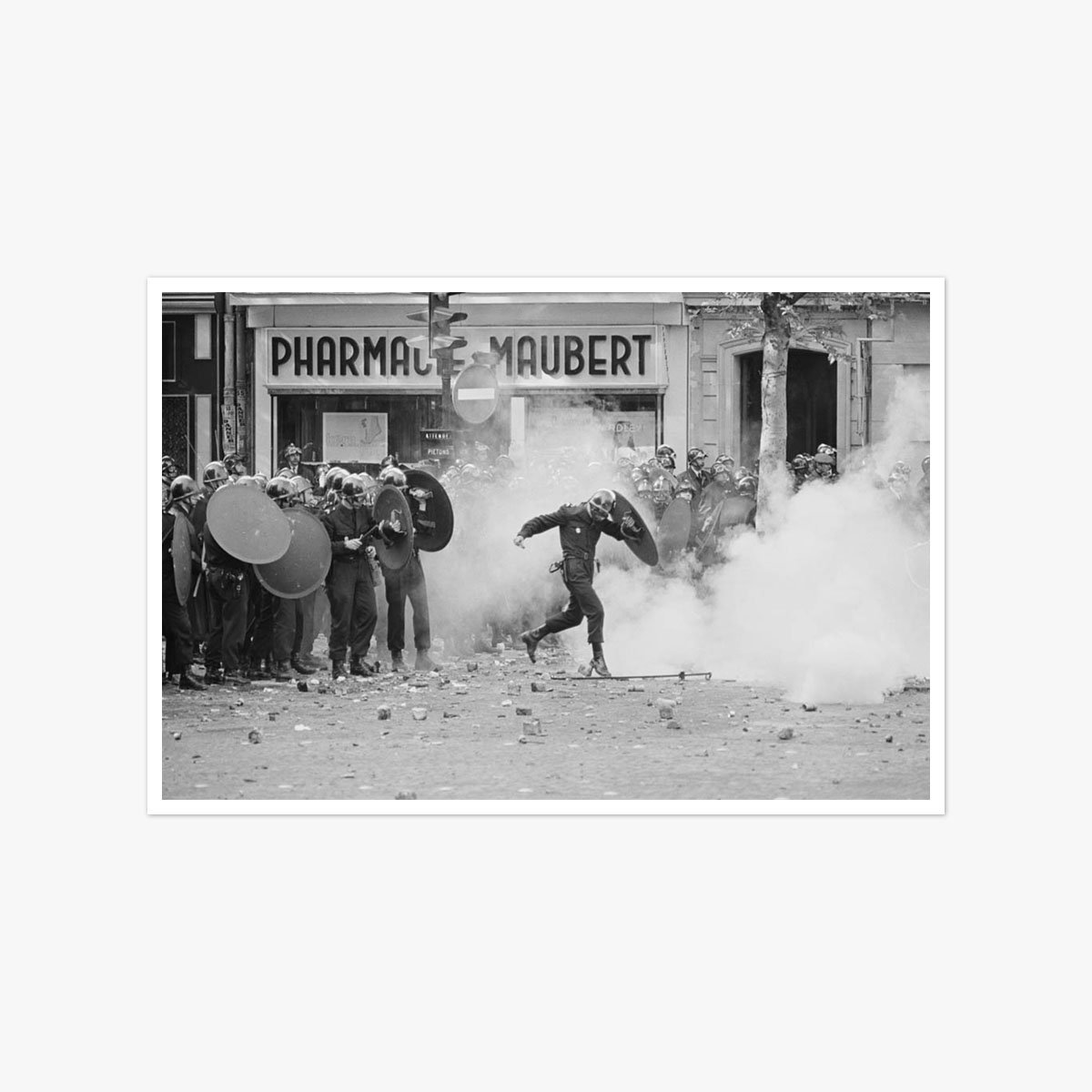 Riots in Paris, 1968 by Reg Lancaster