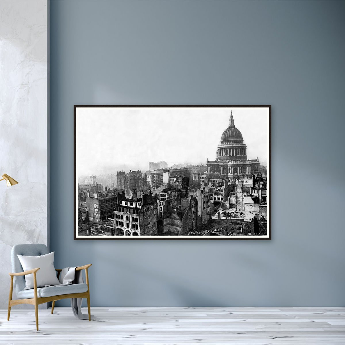 St Pauls Cathedral in the ruins by Frank Rust