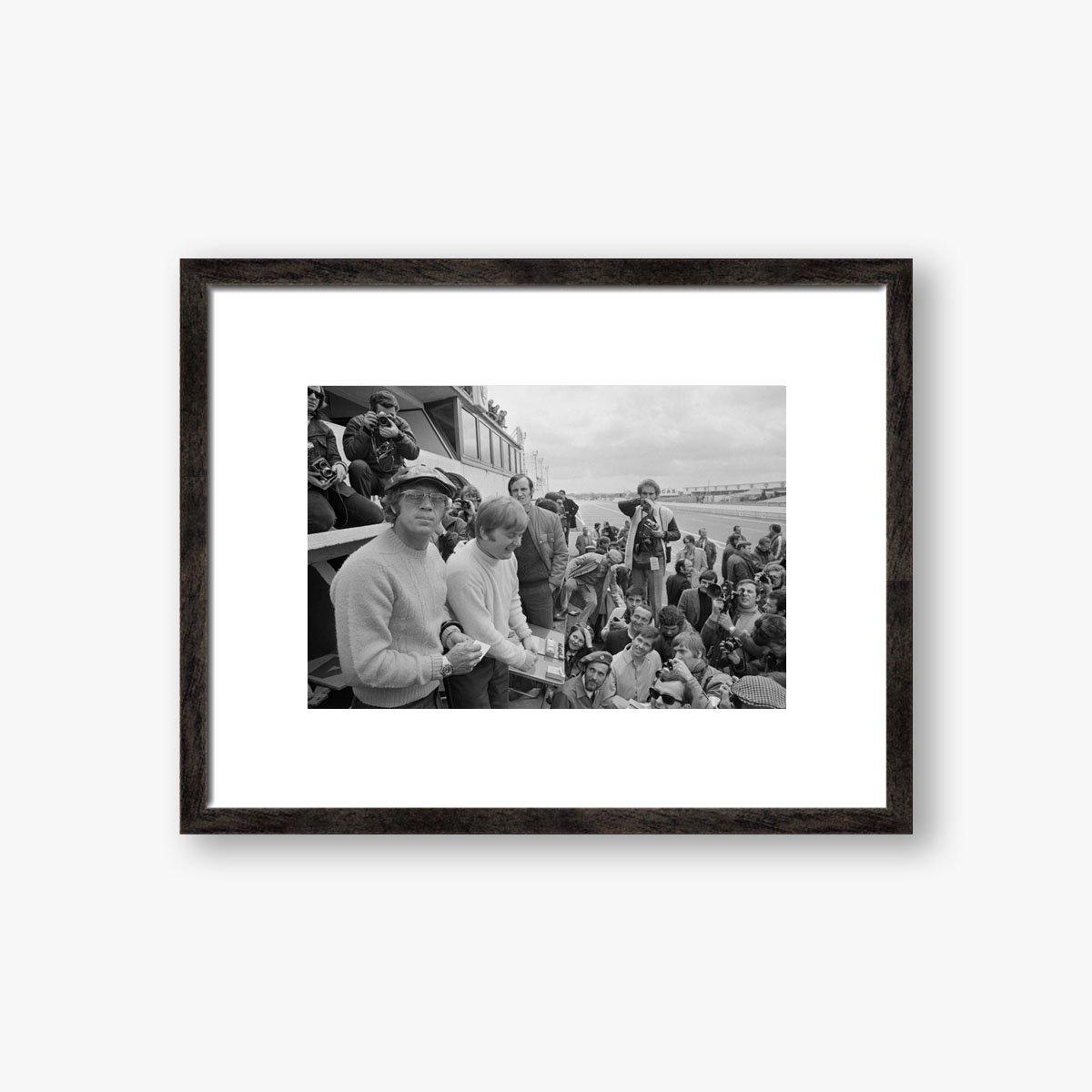 Steve McQueen At Le Mans by Reg Lancaster